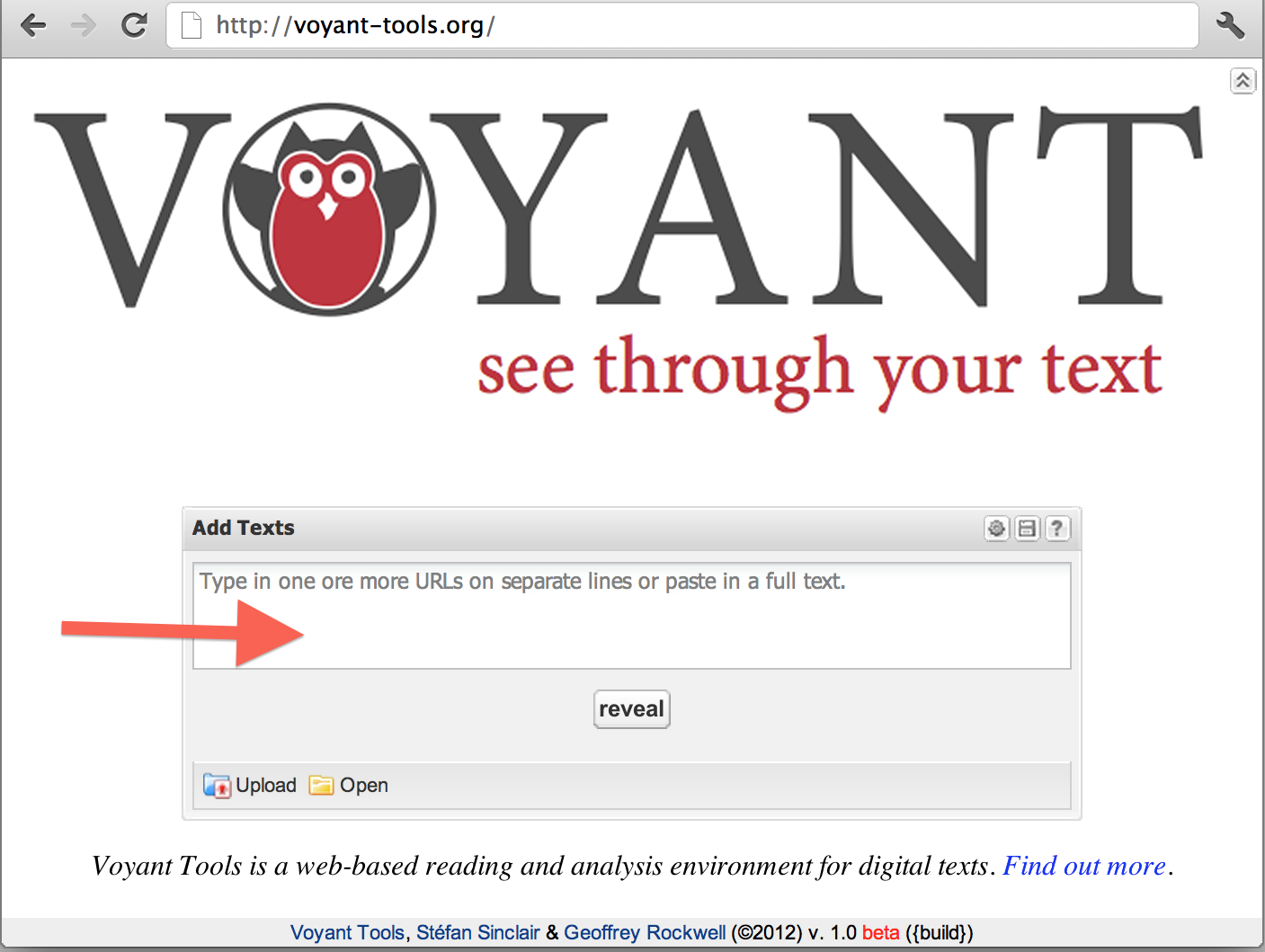 http://docs.voyant-tools.org/start/